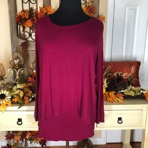 The limited| women's burgundy long sleeve top